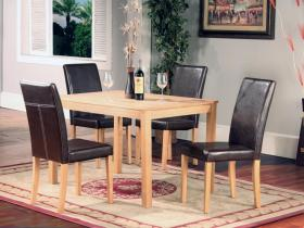 Ashdale Dining Set with Faux Leather Back Chairs