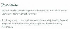 Visit Bridgwater In Somerset