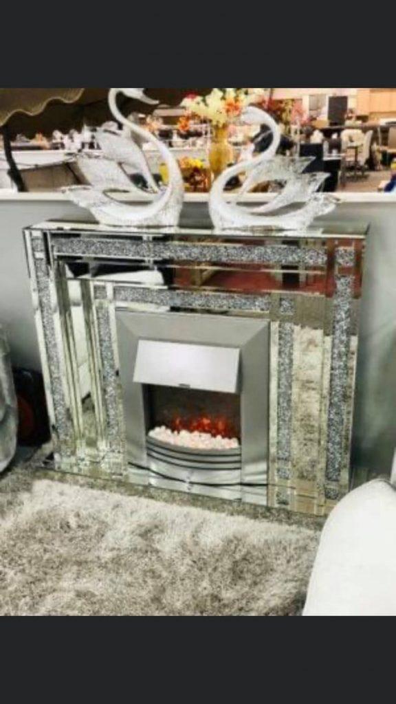 Crushed Diamond Effect Fireplace