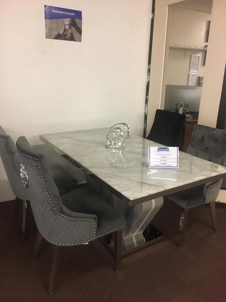 Marble Table & Knockerback Chairs